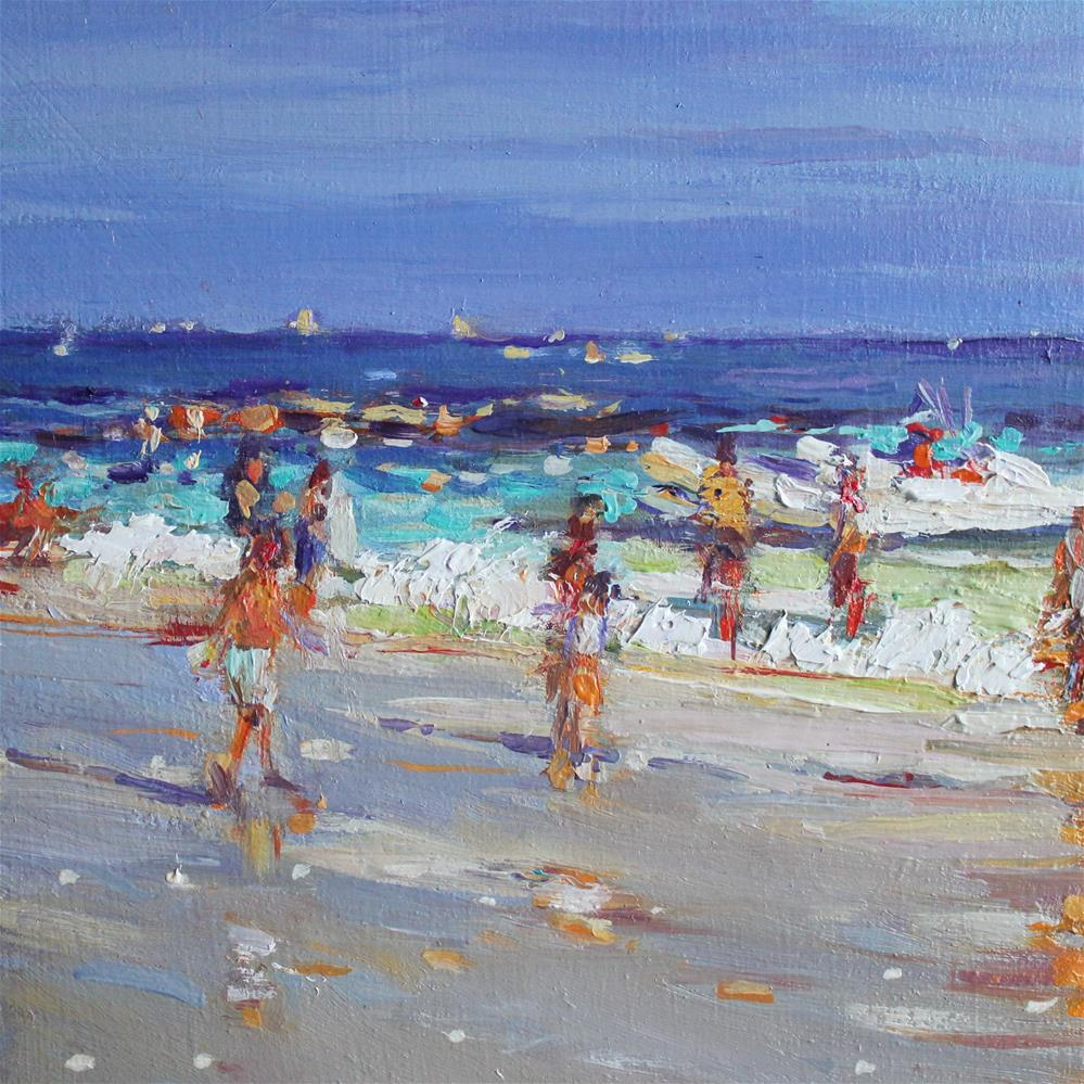 """Beach Stroll"" original fine art by Ken Devine"