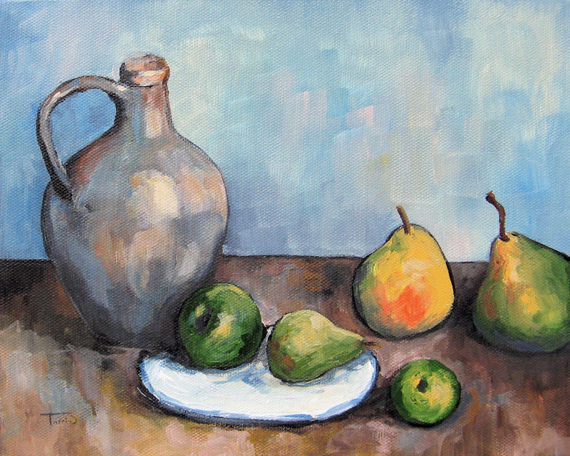 """Cezanne's Jug"" original fine art by Torrie Smiley"