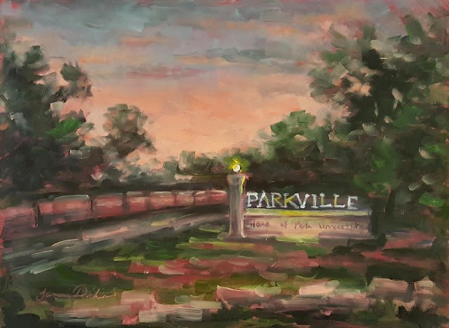 """Entering Parkville"" original fine art by Tammie Dickerson"