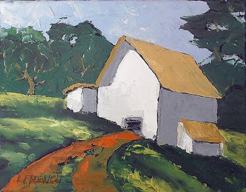 """""""California Barn"""" original fine art by lynne french"""