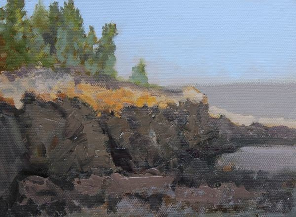 """Landscape, Seascape Oil Painting Maine-Study #5 by Colorado Landscape Artist Susan Fowler"" original fine art by Susan Fowler"