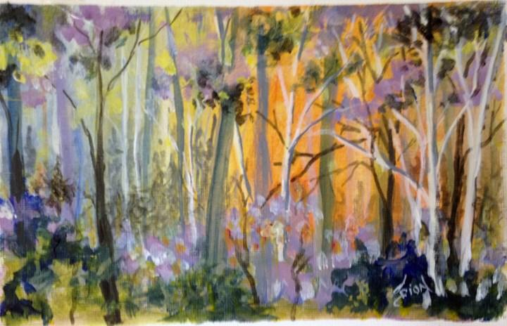 """""""Woods"""" original fine art by Sue Dion"""