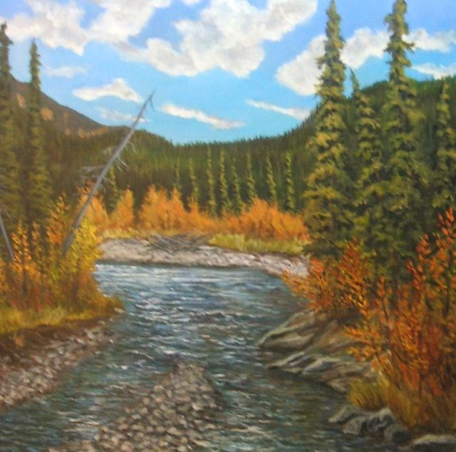 """Autumn on the Magundy"" original fine art by Jackie Irvine"
