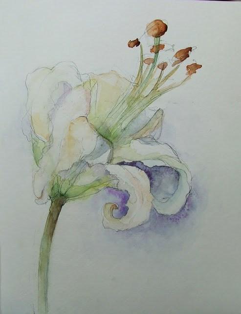 """11May016"" original fine art by Mitsuru Cope"