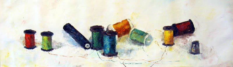 """Threads"" original fine art by Nava Judith"