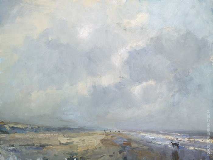 """""""Big plein air: """"Clouds"""" (sold)"""" original fine art by Roos Schuring"""
