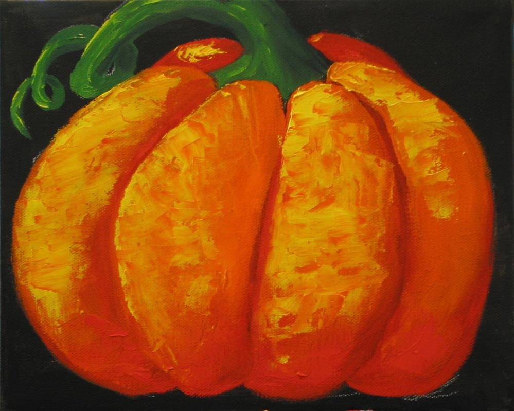 """Tres Pumpkins"" original fine art by Patricia Murray"