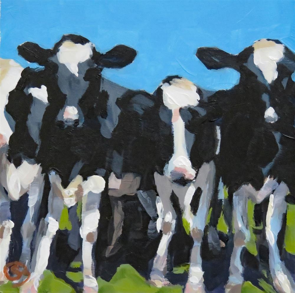 """Holy Cow!"" original fine art by Shari Buelt"