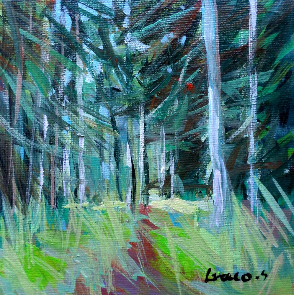 """In forest"" original fine art by salvatore greco"