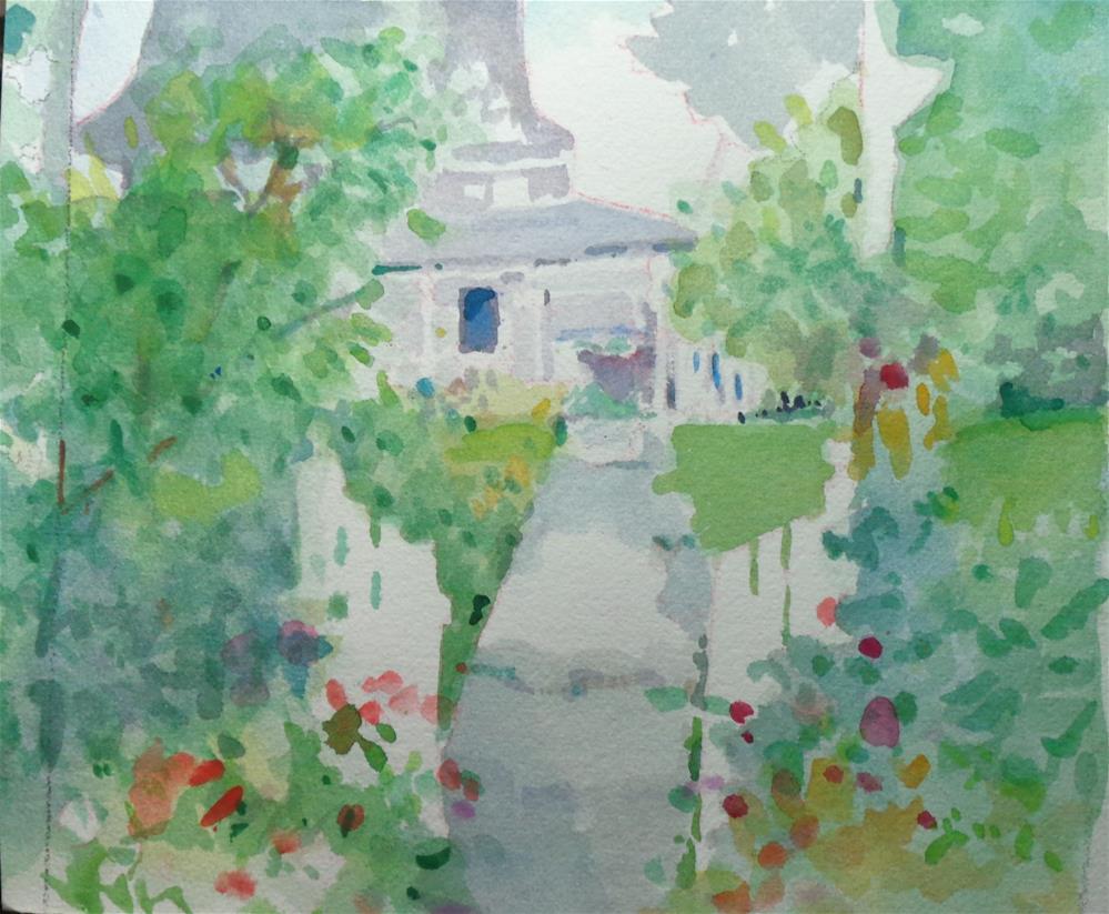 """tin house"" original fine art by meribeth coyne"
