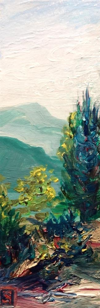"""4150 - Vantage Point - Raw Edge Painting"" original fine art by Sea Dean"