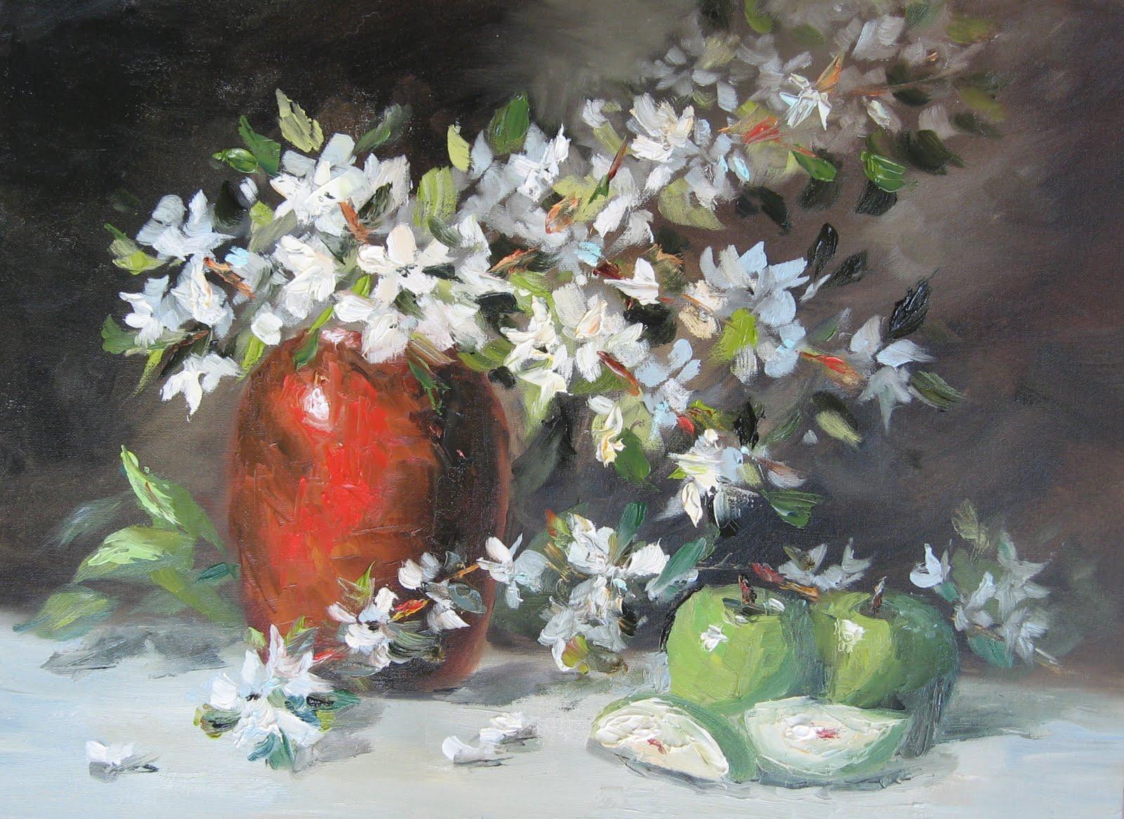 """Flower Study #17"" original fine art by Pat Fiorello"