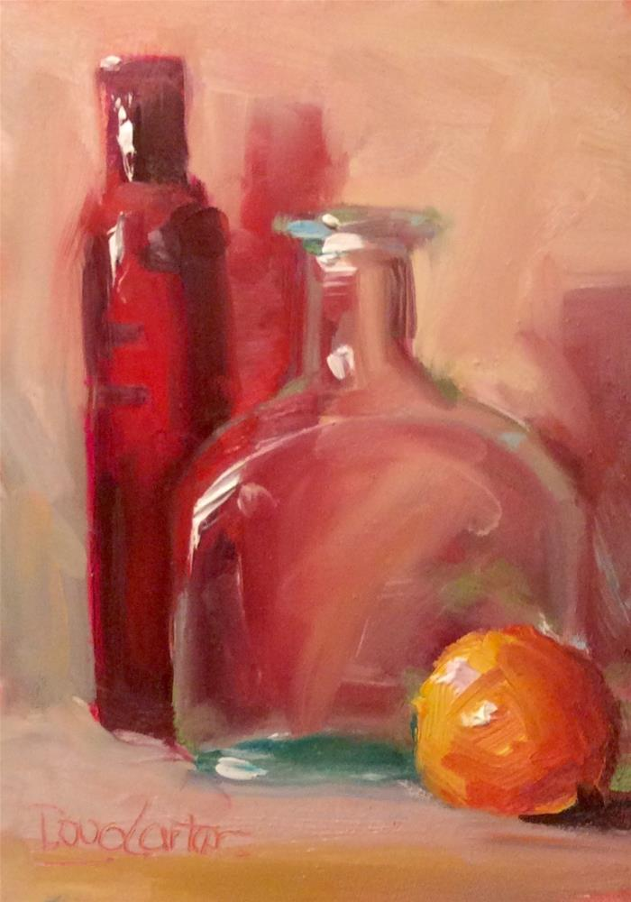 """ SEEING RED "" original fine art by Doug Carter"