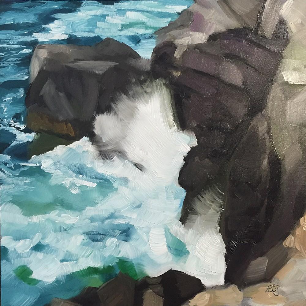 """""""Sea Spray"""" original fine art by Elizabeth Dawn Johnston"""