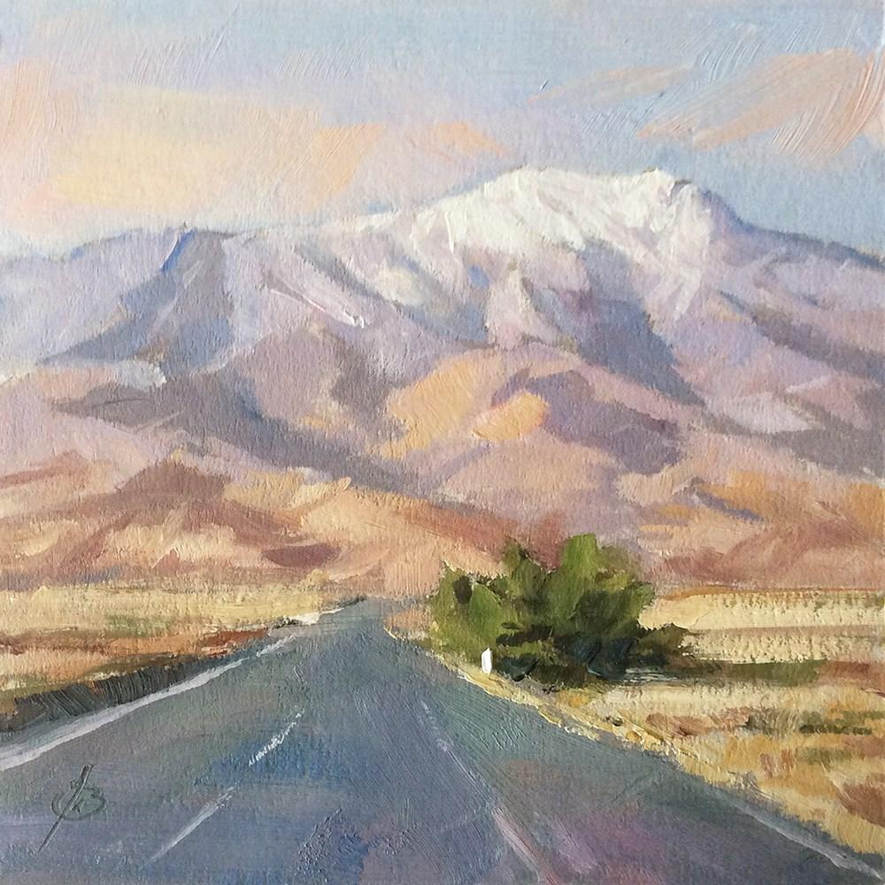 """OPEN ROAD"" original fine art by Tom Brown"