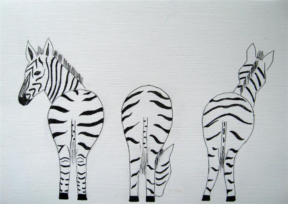 """Zebra Outfits"" original fine art by Alina Frent"