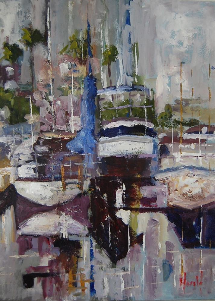 """Docked #2"" original fine art by Deborah Harold"