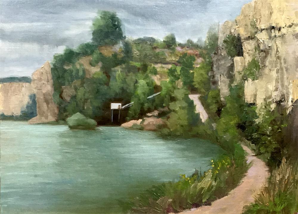 """Quarry Pump House"" original fine art by Judith Anderson"