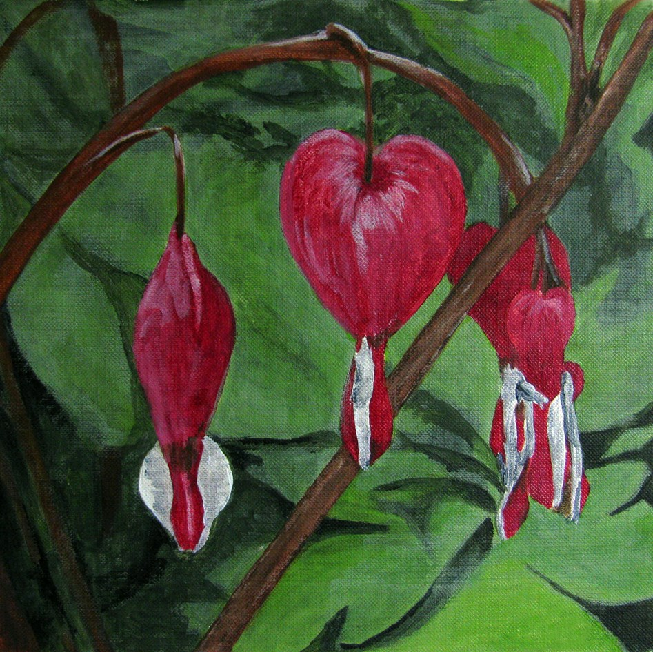 """3 of Hearts"" original fine art by Nan Johnson"