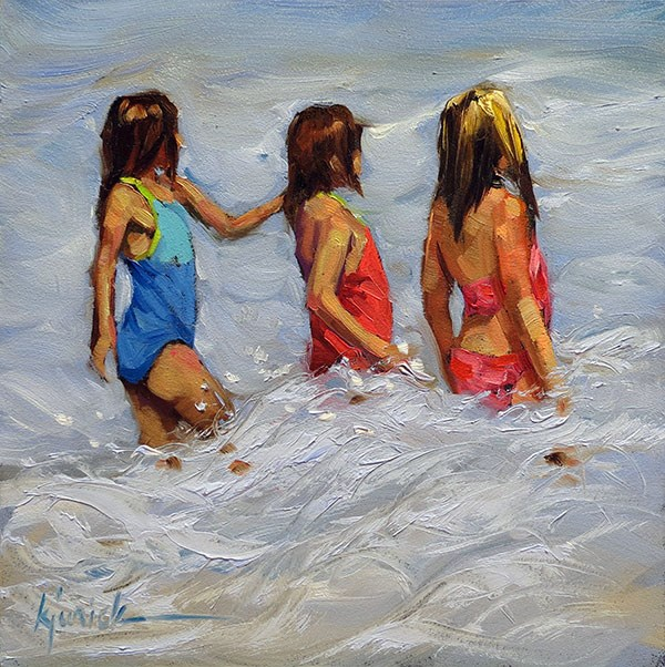 """Waves"" original fine art by Karin Jurick"