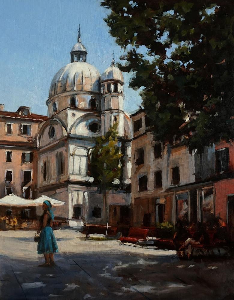 """""""Venetian Courtyard"""" original fine art by Jonelle Summerfield"""