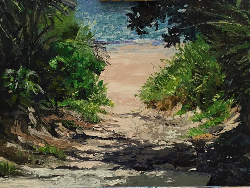"""""""Sandy Path"""" original fine art by Bonnie Masdeu"""