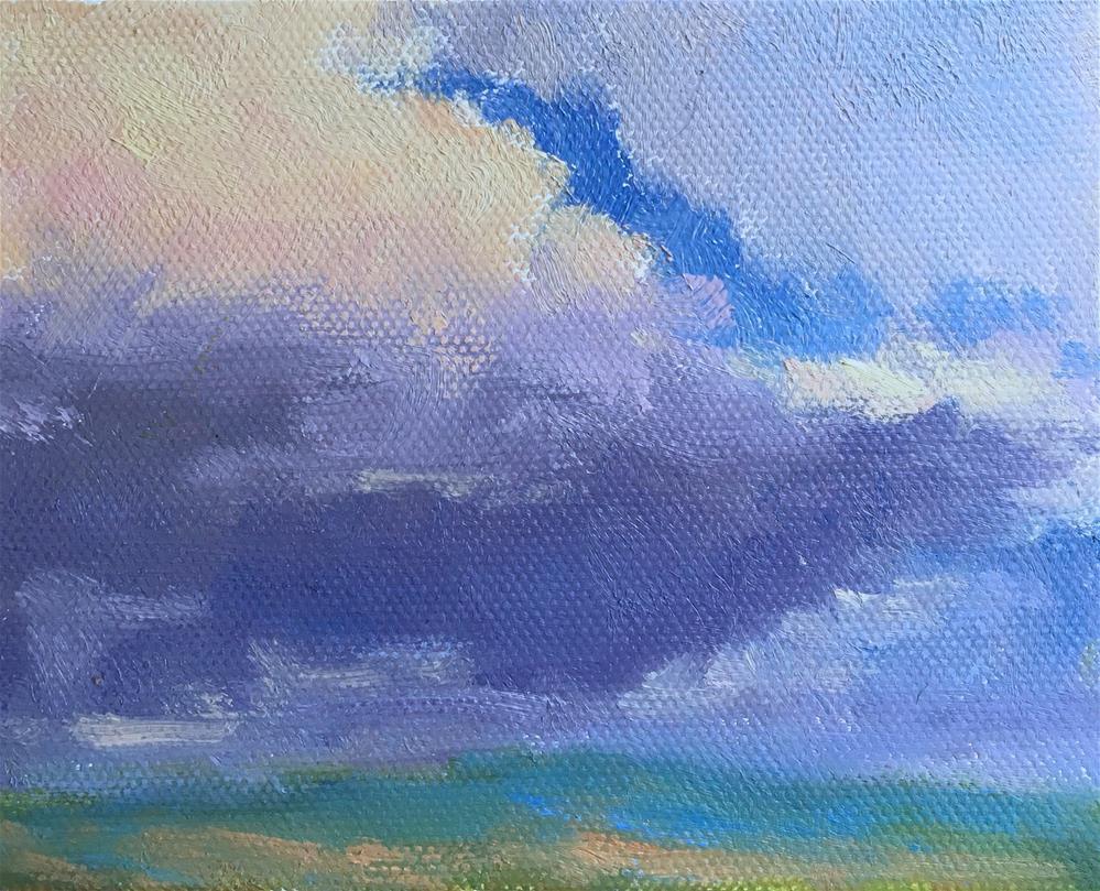 """#6 Ten Tiny Clouds"" original fine art by Victoria  Biedron"