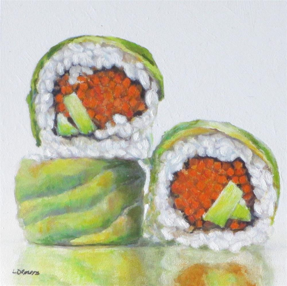 """3 California Rolls"" original fine art by Linda Demers"