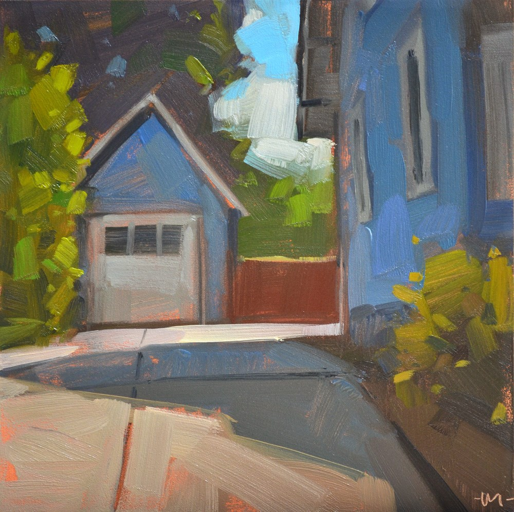 """Tiny Garage"" original fine art by Carol Marine"