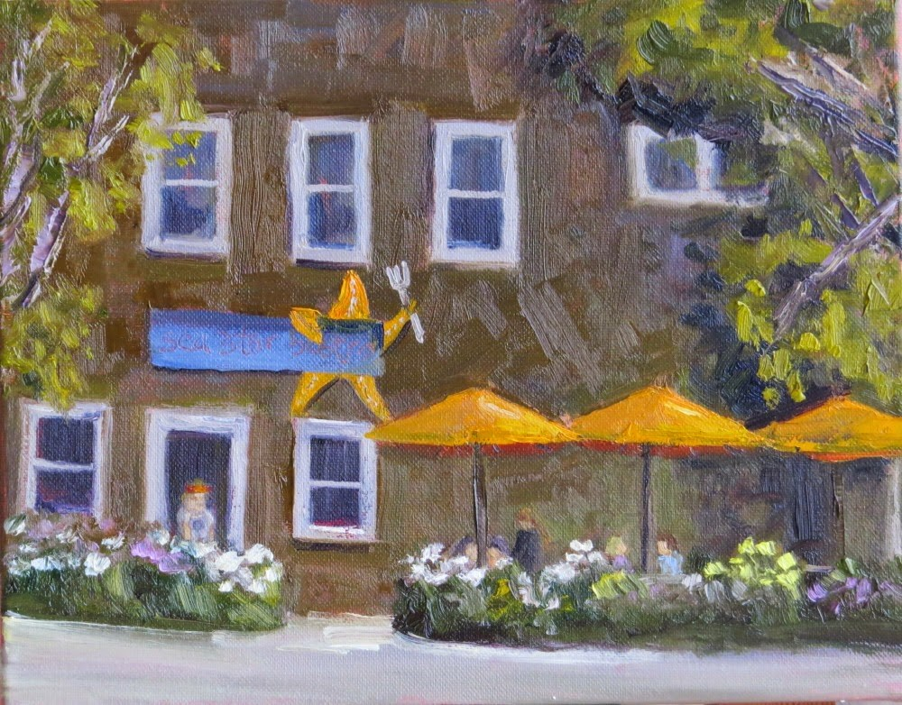 """Sea Star Bistro"" original fine art by Richard Kiehn"