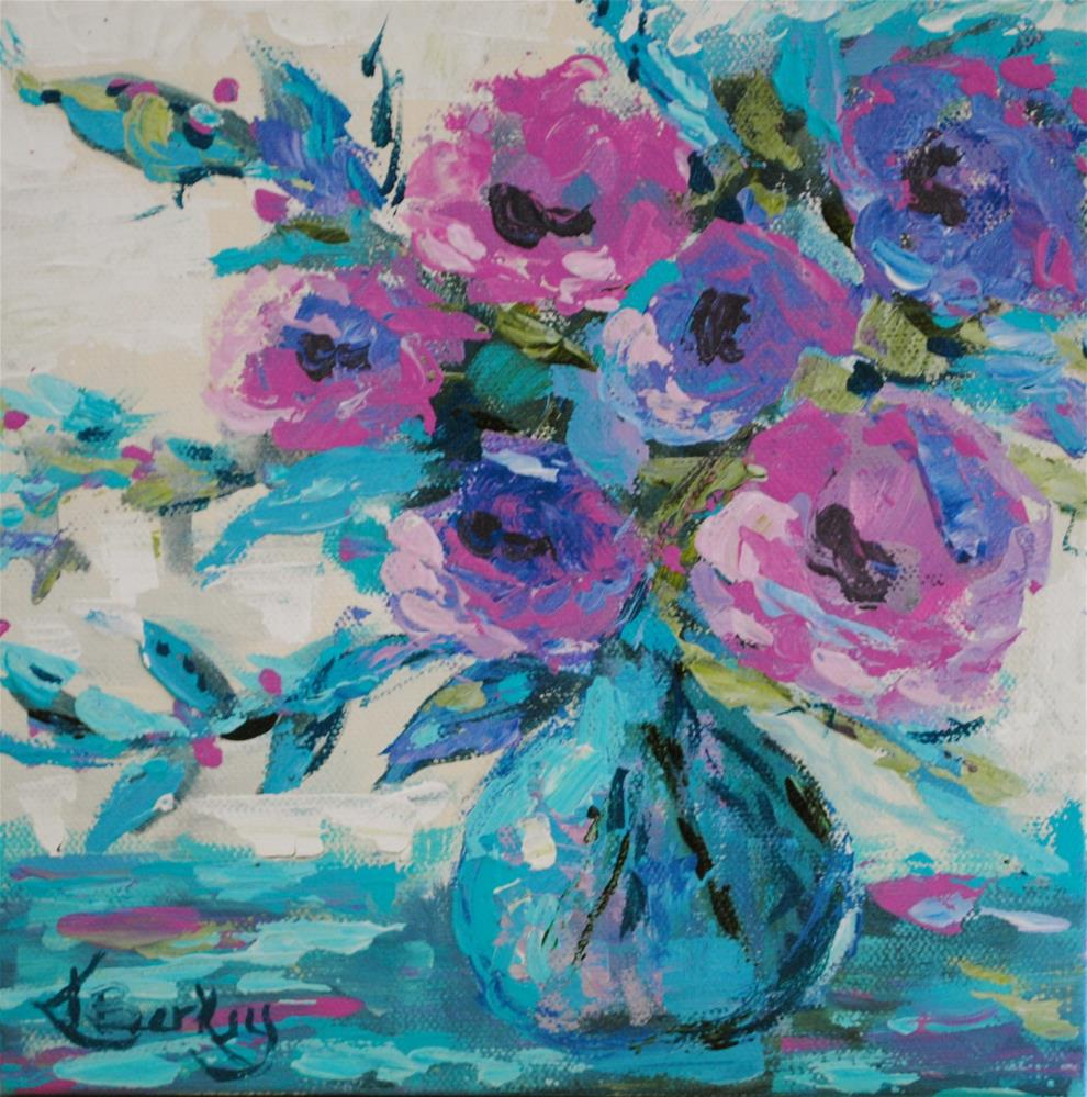 """Floral Love"" original fine art by Kelly Berkey"