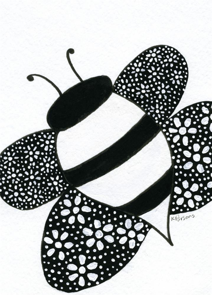 """Bee Awesome!"" original fine art by Kali Parsons"