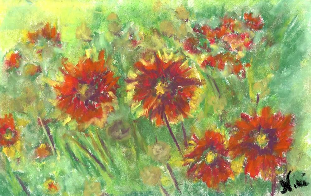 """""""Hippie Flowers"""" original fine art by Niki Hilsabeck"""