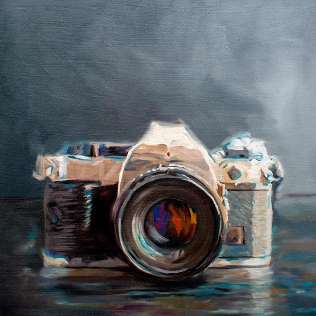 """Vintage Camera"" original fine art by Lauren Pretorius"