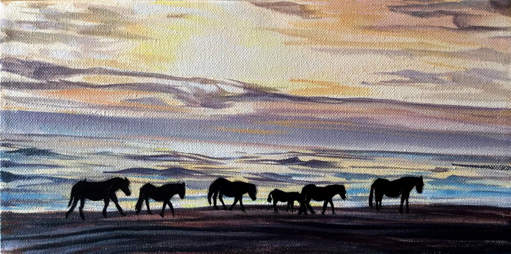 """Time to Go Home"" original fine art by Lauren Kuhn"