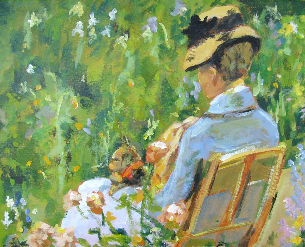 """""""Study of Mary Cassatt's In the Garden"""" original fine art by Susan Elizabeth Jones"""