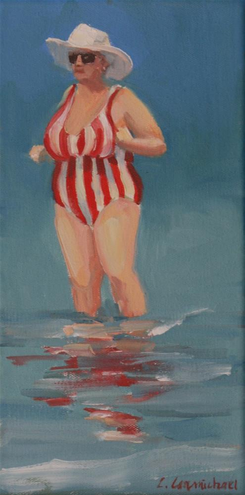 """candy striper"" original fine art by Carol Carmichael"