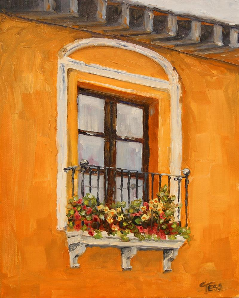 """Charming Window de Naranja"" original fine art by Tess Lehman"