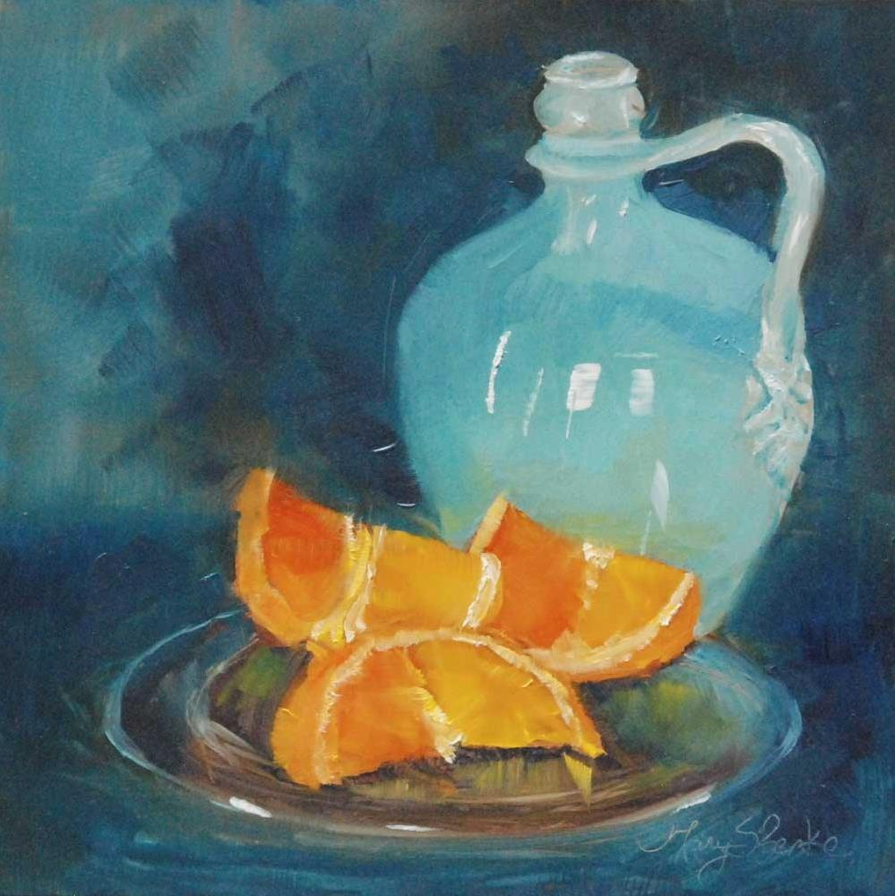 """Orange Complement"" original fine art by Mary Benke"