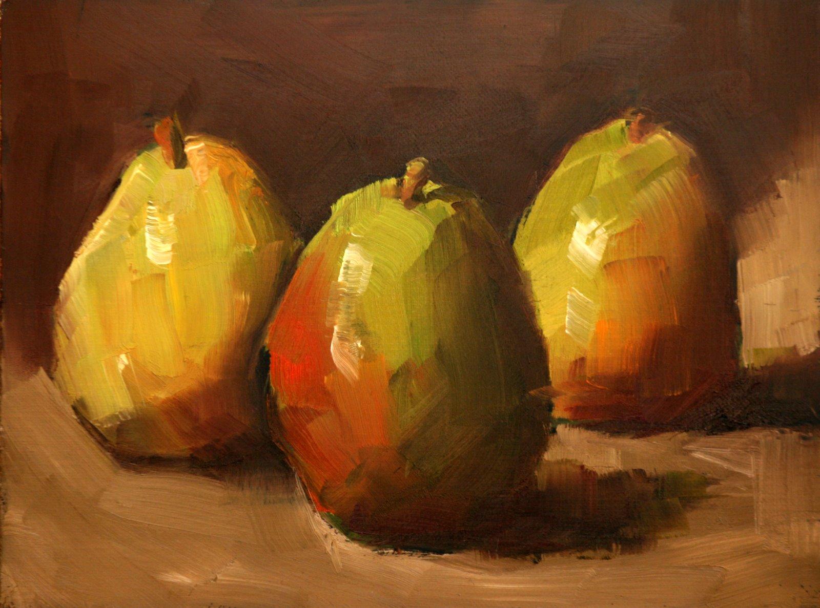 """""""chubby trio"""" original fine art by Carol Carmichael"""