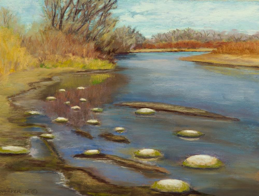 """Stepping Stones"" original fine art by Nelia Harper"