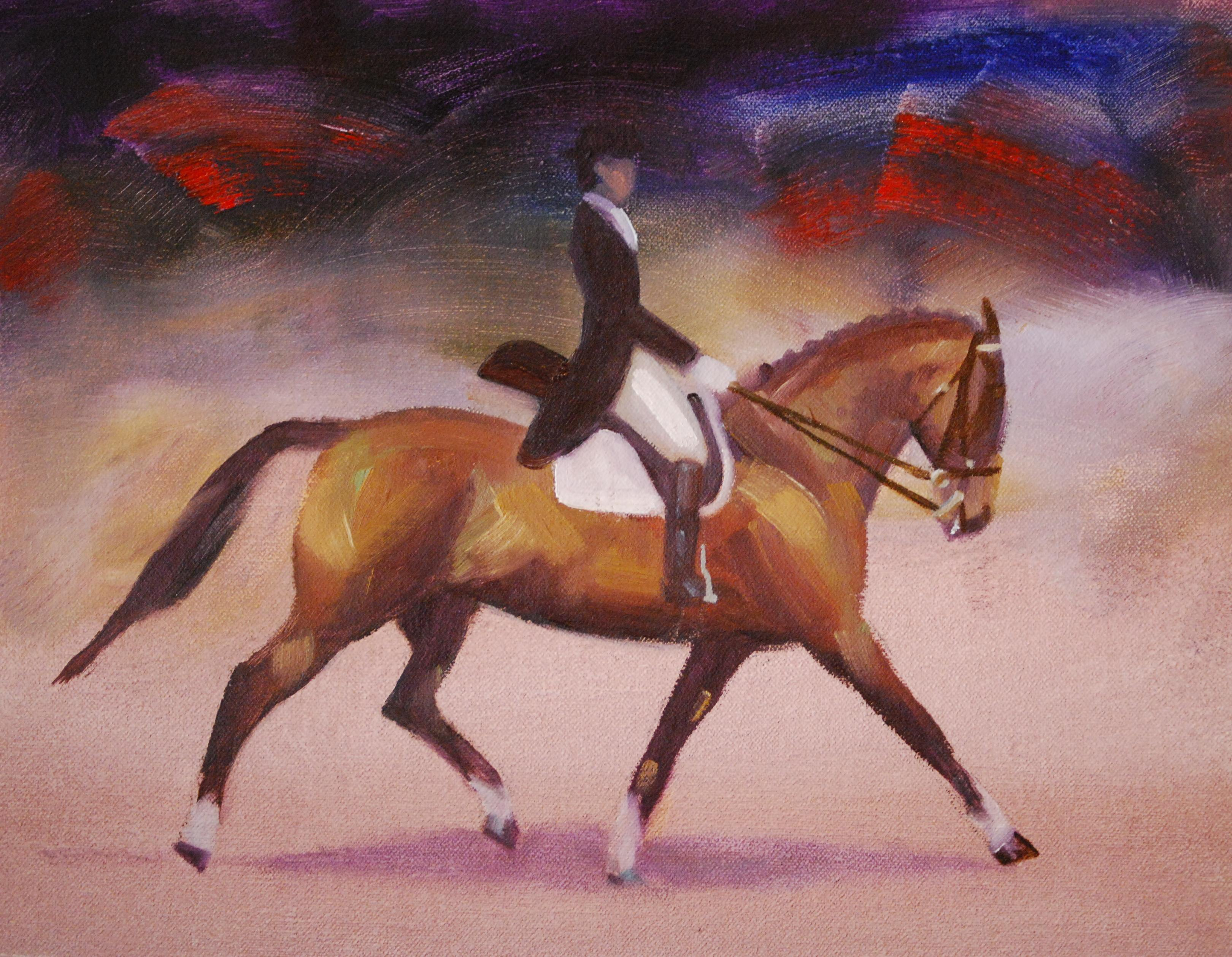 """The Equestrian"" original fine art by Ann Feldman"