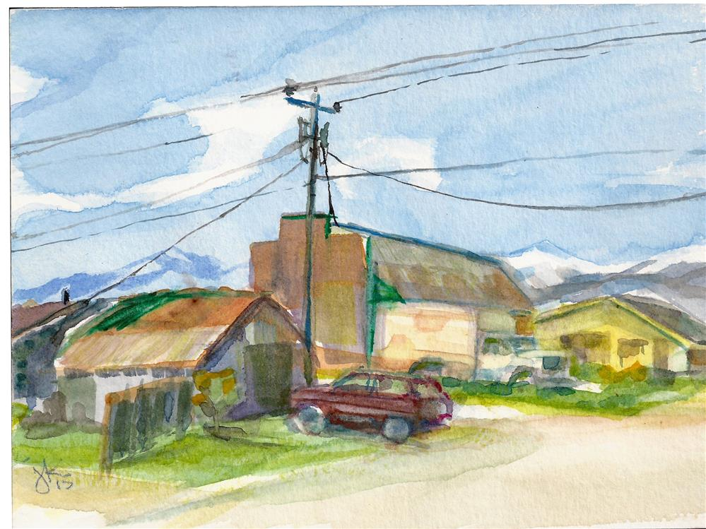 """Downtown Westcliffe2"" original fine art by Jean Krueger"