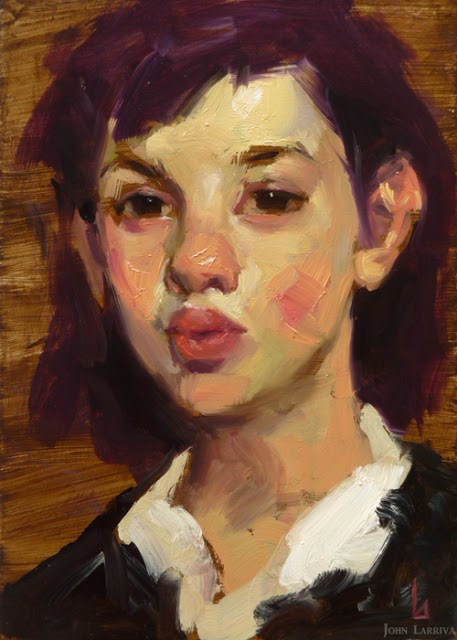 """""""Plum Girl"""" original fine art by John Larriva"""