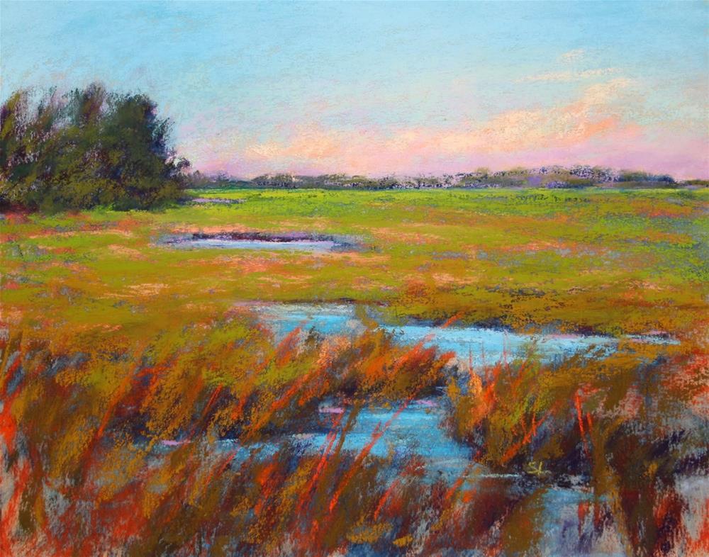 """Tidal River"" original fine art by Sharon Lewis"