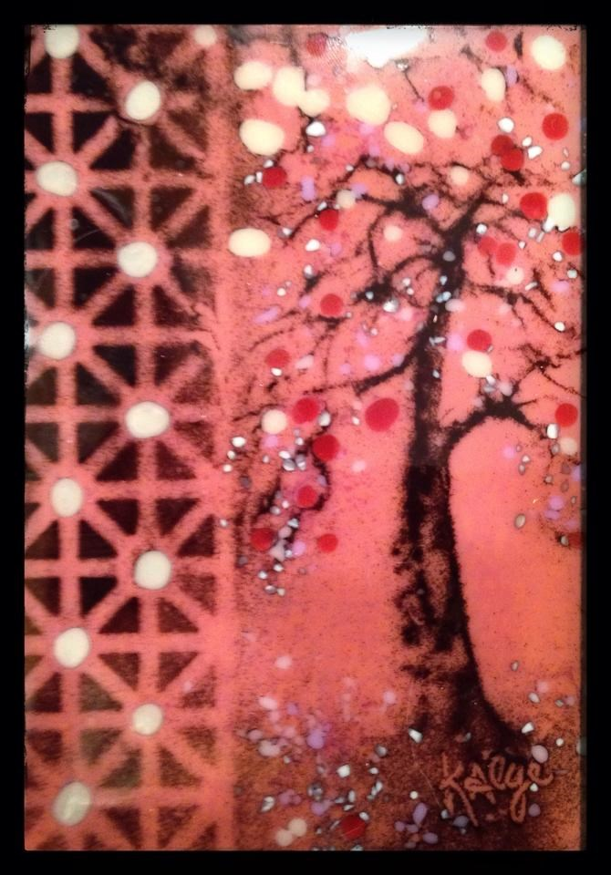 """Japanese Plum"" original fine art by Kelly Alge"
