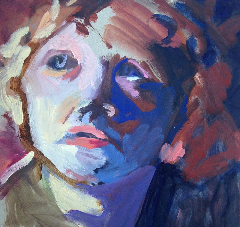"""Blue Faced Child"" original fine art by Pamela Hoffmeister"