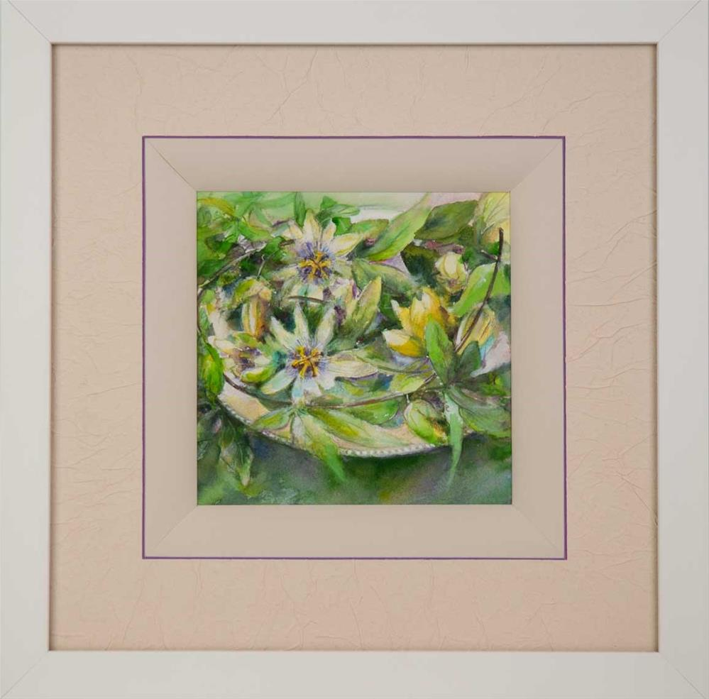 """DCS#34 Passion flowers"" original fine art by Olga Touboltseva-Lefort"