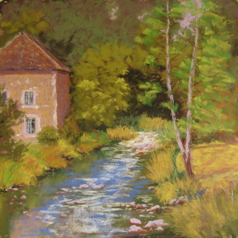 """""""Normandy View"""" original fine art by Ruth Mann"""