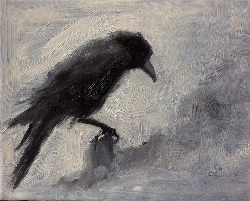 """Crow #3"" original fine art by Lori Jacobs - Farist"